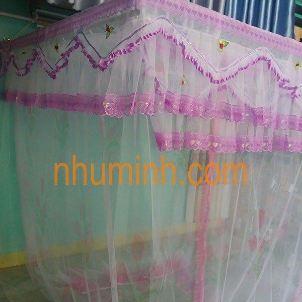 Mùng khung inox màu hồng tại Đà Nẵng