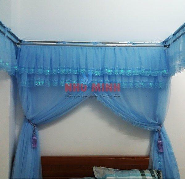 Mùng khung inox màu xanh Đà Nẵng