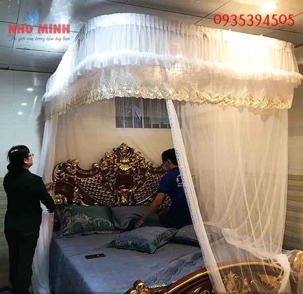 Màn khung cao cấp tại Đà Nẵng - Màn khung không khoan tường phong cách châu Âu